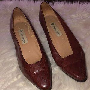 Etienne Aigner Vintage Leather weave Shoes